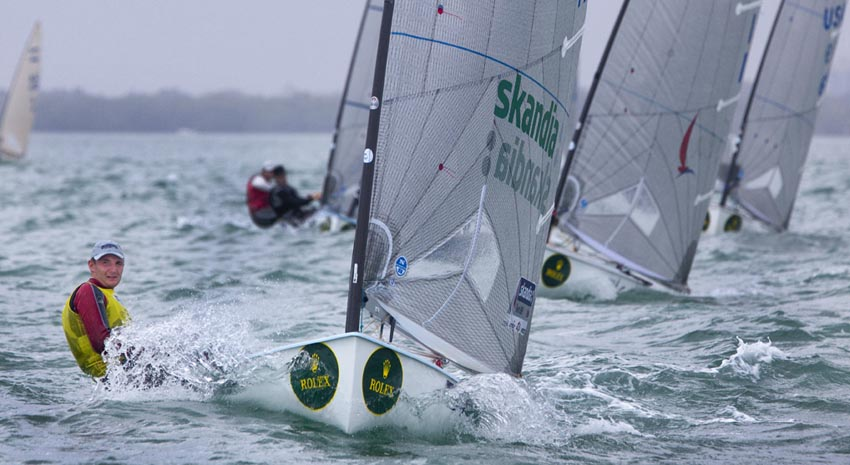 Giles Scott on day 2 Pic: Rolex/Daniel Forster