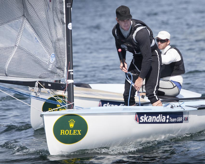 Andrew Mills leads Ben Ainslie on day four - Pic Rolex/Daniel Forster