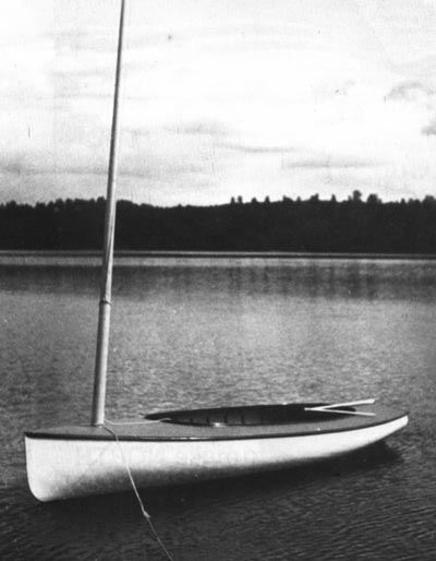 The First Finn, first time afloat in 1949